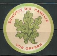 WW II WHW Spendenblatt : Eichenlaub ,Januar 1934. Sehr Selten! Oben Mit Mängel. - Allemagne