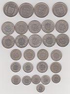 LOT DE PIECES SUISSE EN CIRCULATION . AU TOTAL 47.35 EUROS . - Suisse