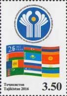 Tadschikistan 2016 MNH** Mi.Nr. 735 A 25th Aniv Of CIS - Tajikistan