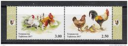 Tadschikistan 2017 MNH** Mi.Nr. 753-754 ZdA Year Of The Rooster Cook - Tadschikistan