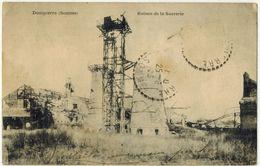 MILITARIA GUERRE 14/18 DOMPIERRE SOMME : Ruines De La Sucrerie Après Bombardements Allemands - Voyagé LONGUEAU - Guerre 1914-18