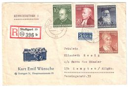 BRD, 1952, Wofa , Satz-Bf., Mi. Ca. 165.-  #10038 - Briefe U. Dokumente