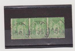 FRANCE   1898-1900  Y.T. N° 102  Vert-jaune  Oblitéré - 1898-1900 Sage (Type III)
