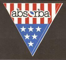 AUTOCOLLANT ADHÉSIF STICKER ABSORBA - DRAPEAU AMÉRICAIN - USA - Stickers