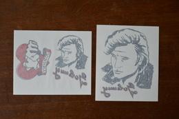 Lot De 2 Tatouages éphemères De Johnny HALLYDAY ----- Neufs --- B - Objets Dérivés