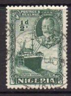 Nigeria GV 1936 ½d Green Definitive, Used, SG 34 - Nigeria (...-1960)