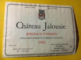 6737 - Château Jalousie 1985 - Bordeaux