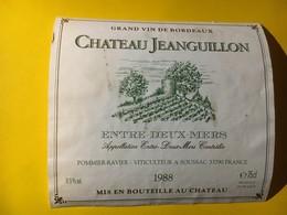 6740 - Château Jeanguillon 1988 Entre-deux.Mers - Bordeaux