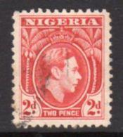 Nigeria GVI 1938-51 2d Rose-red Definitive, P. 11½, Used, SG 52ab - Nigeria (...-1960)