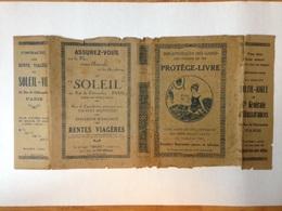"""Protège-livre Ancien """"Bibliothèques Des Gares Des Chemins De Fer"""" 1928 - Buvards, Protège-cahiers Illustrés"""