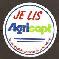 AUTOCOLLANT ADHÉSIF STICKER JE LIS AGRISEPT HEBDOMADAIRE NATIONAL DE L'AGRICULTURE - Autocollants