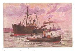 Dessin-Illustrateur-Zimmerman Bâteaux Pêcheurs-(C.3250) - 1900-1949
