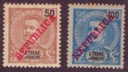 """São Thomé E Príncipe - 1911 Issue Of 1898-1901 Overprinted """"REPUBLICA"""" Neuf - St. Thomas & Prince"""