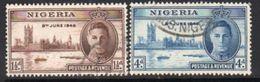 Nigeria GVI 1946 Victory Set Of 2, Used, SG 60-1 - Nigeria (...-1960)