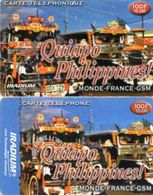 2 CARTES PREPAYEES  IRADIUM  *100F 15,24e Quiapo Philippines 1418 - France