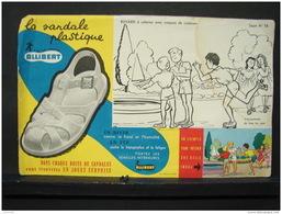 Buva. 34. La Sandale Plastique Allibert. Buvard à Colorier. - Chaussures