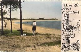 17. ÎLE DE RE. PLAGE DE TROUSSE CHEMISE . ILLUSTRATION. HUMOUR. 1961. - Ile De Ré