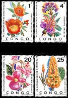 Congo 0778/81**  Fleurs  MNH - République Démocratique Du Congo (1964-71)