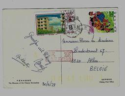 CHINA Michel 1259 + 1279 Gestempeld Op Zichtkaart - Obliteré Sur Carte Postale- Cancelled On Postcard - 1949 - ... République Populaire