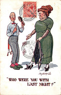 Illustration Comic Comique - Who Were You With Last Night - Couple Jealousy Jalousie - Illustrator Donald Mc Gill - Mc Gill, Donald