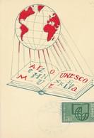UNESCO. PREMIER JOUR. PARIS 1966. G.PARISON ET B.REGNIER-FRANCE-TBE-BLEUP - Postkaarten