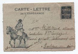 """CARTE LETTRE DE L'ESPERANCE """"NOS ALLIES : LES RUSSES"""" - FRANCHISE MILIAIRE FM - Marcophilie (Lettres)"""