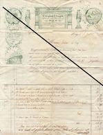 Facture De 1844 HUY  Legrand Tonglet Terre Plastique à Creuset Brique Pipe Faience Dalle Carreaux ... - Belgium