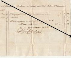Facture De 1852 HUY De Sohelet Pharmacien à Corbusier - Belgium