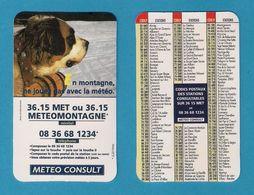 Carte Publicitaire Météo Consult.   Météo Montagne.  Chien Saint Bernard. - Altri