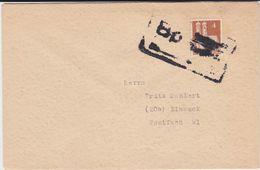 Bahnpost Notstempel Hannover - Vorsfelde Bf Bizone Bauten Mi 74 Ca 1949 - Bizone