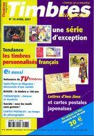 Timbres Magazine N 78,Russie 150 Ans,chèvres Moutons,timbre Personnalisé,Sénégal Français,valise Diplomatique,phonograph - Zeitschriften