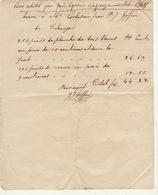 Facture De 1848 Tihange Huy Goffin Bois - Belgium