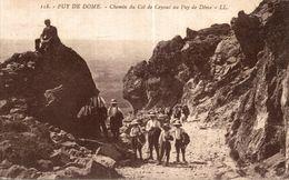 PUY DE DOME CHEMIN DU COL DE CEYSSAL AU PUY DE DOME - France