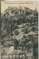 Hochsteinbaude Im Riesengebirge V. 1922  Der Hochstein Mit Der Hochsteinbaude  (12729) - Schlesien