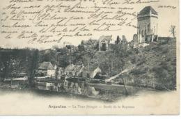 CPA Precurseur ARGENTON (36) LA TOUR PRINGET BORDS DE LA BAYONNE Port 1 Euro N19 - France