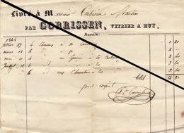 Facture De 1844 Gorrissen Vitrier à Huy - Belgium