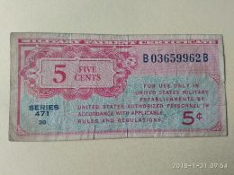 5 Cent - Certificati Di Pagamenti Militari (1946-1973)