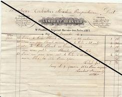 Facture LAC De 1844 Lambert Bernard à Huy Plomb Pompe Chasse - Belgium
