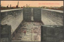 Lock Chamber, Gatun, Panama Canal, C.1910s - Postcard - Panama