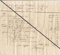 Facture De 18445 Huy Nicolas Rigaux Ardoisier Ardoise (grand Format) - Belgium