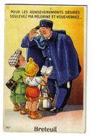 60 Breteuil Agent De Police N°157 Carte à Systèmes 10 Vues Sous La Pélerine - Breteuil