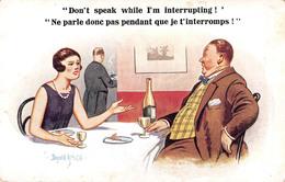 Illustration Comic Comique - Don't Speak While I'm Interrupting - Woman Champagne Chatterbox Illustrator Donald Mc Gill - Mc Gill, Donald
