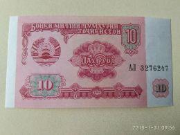 10 Rubli 1994 - Tadzjikistan