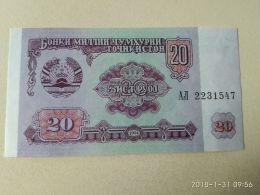 20 Rubli 1994 - Tagikistan