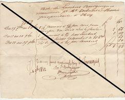 Facture De 1852 Lambert Bourguignon Menuisier Bois Huy - Belgium