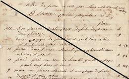 Grande Facture De 1847 Louis Loiseaux Serrurier à Huy - Belgium