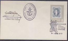 Argentina 1973 Ship General San Martin Cover  Signature (37419) - Poolshepen & Ijsbrekers