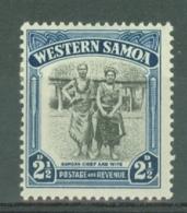 Samoa: 1944/49   Pictorial   SG203    2½d    MH - Samoa