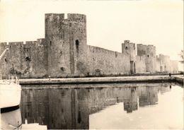 AIGUES MORTES (30) Les Remparts - Photo ESPUNYA - Format Carte Postale - Très Très Rare - écrite Au Verso - Aigues-Mortes