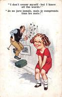 Illustration Comic Comique - I Don't Swear But I Know All Words - Petite Fille Père Jure - Illustrator Donald Mc Gill - Mc Gill, Donald